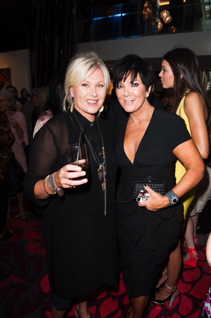 Deborra Lee Furness and Kris Jenner at Russell James' book launch in Sydney