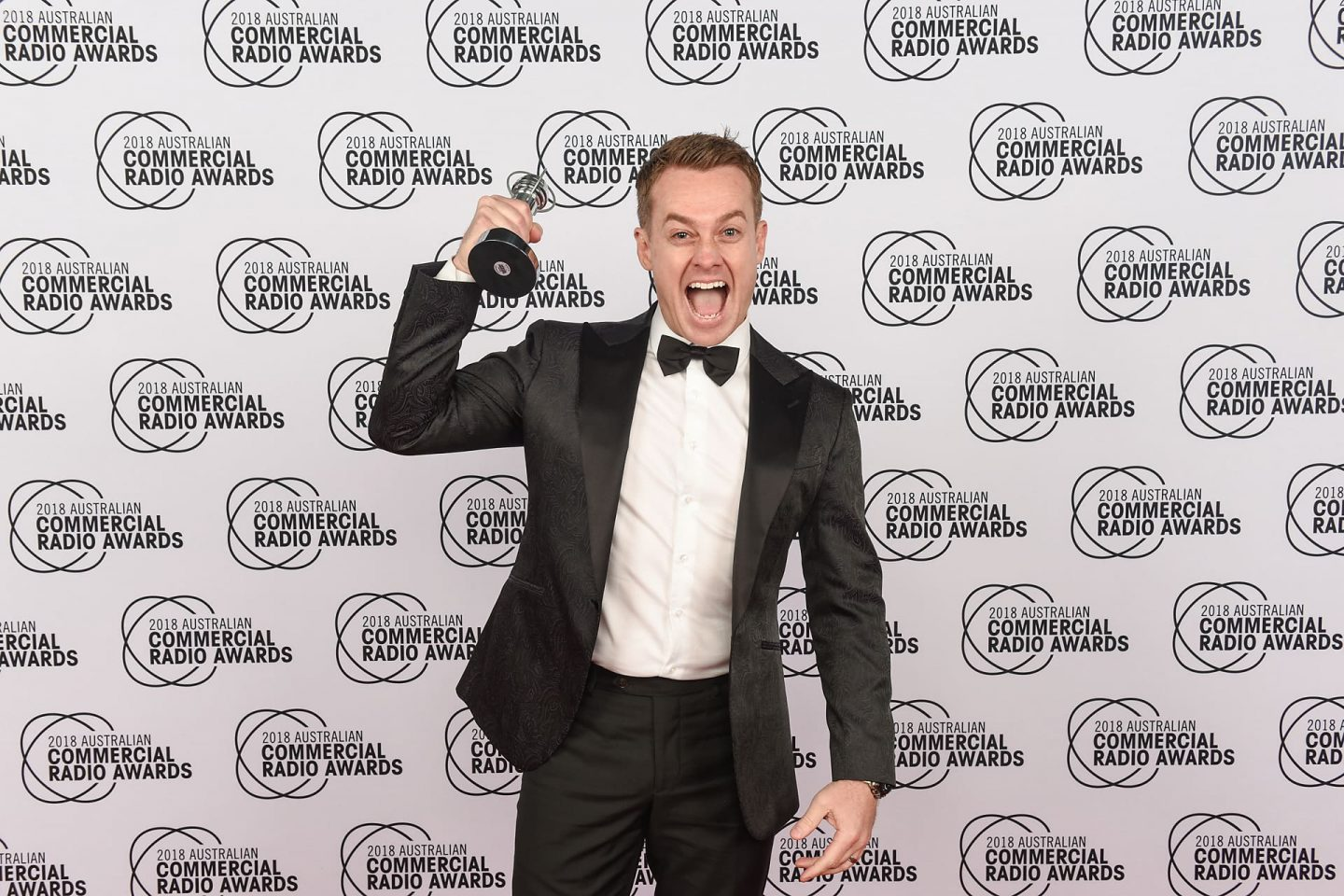 Grant Denyer at the Commercial Radio Awards