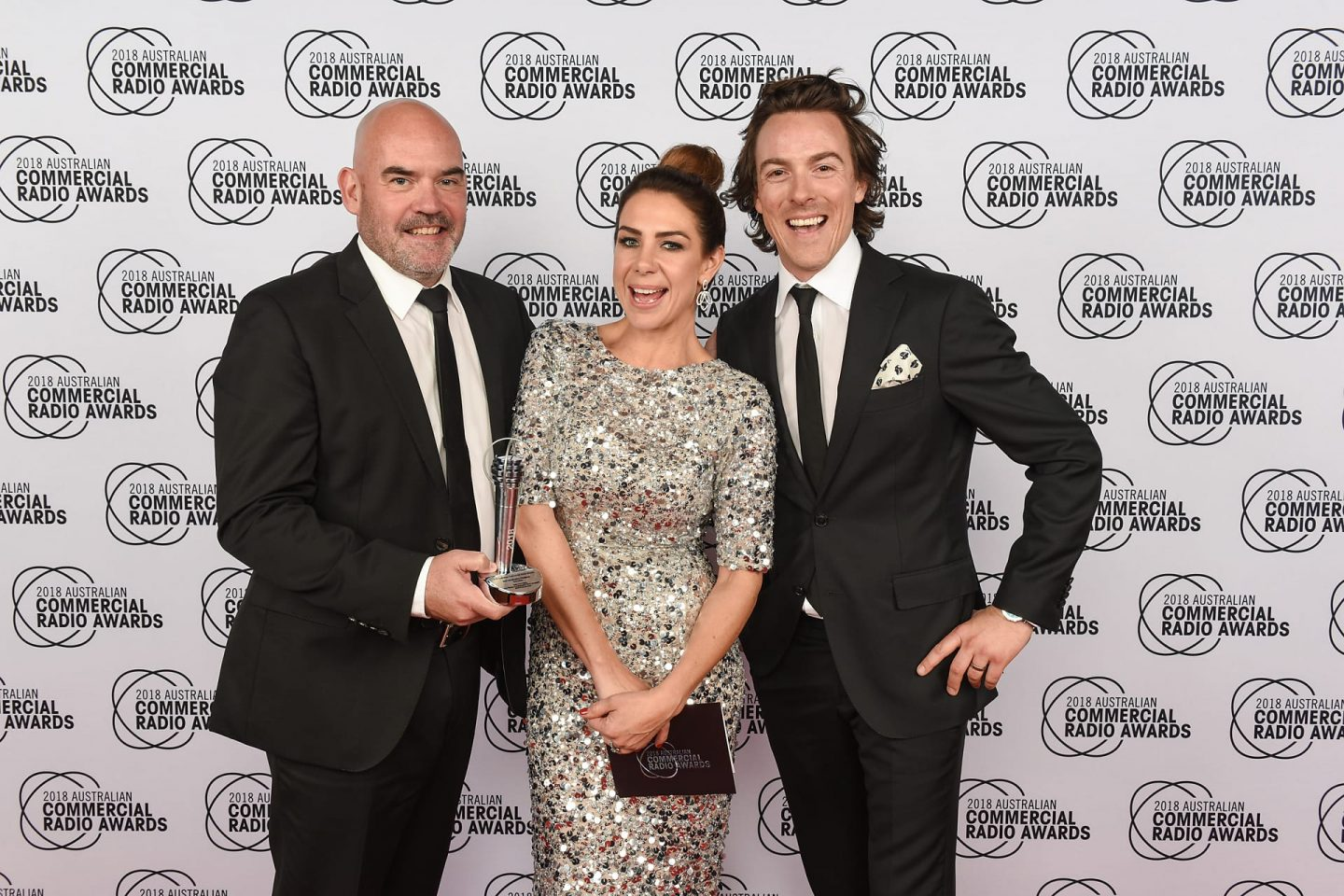 Kate Tim and Marty at the Commercial Radio Awards event
