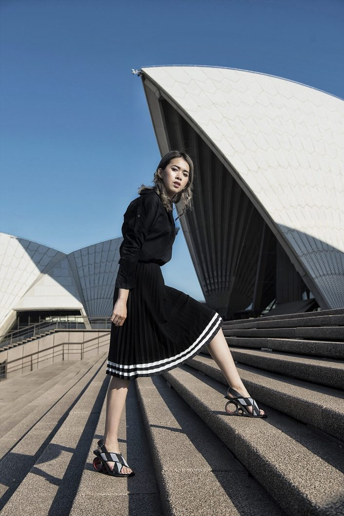 Cindy Karmoko in front of Sydney Opera House